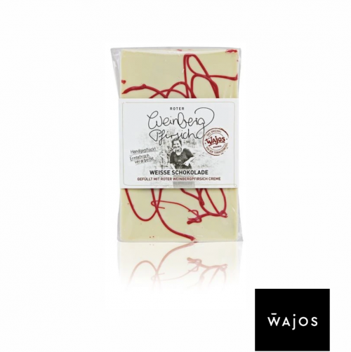 Weiße Schokolade - mit Rotem-Weinbergpfirsich-Fruchtmus